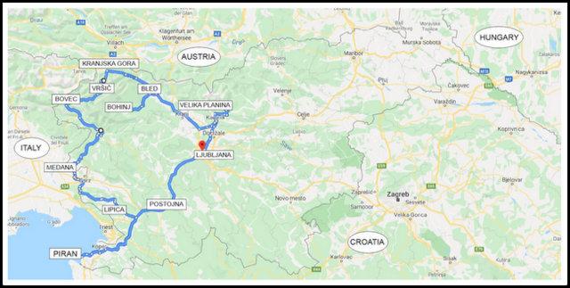 slovenia itinerary 1 week
