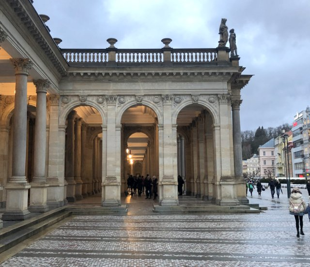 The mill colonade Karlovy Vary