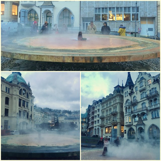 the hot spring colonade Karlovy Vary