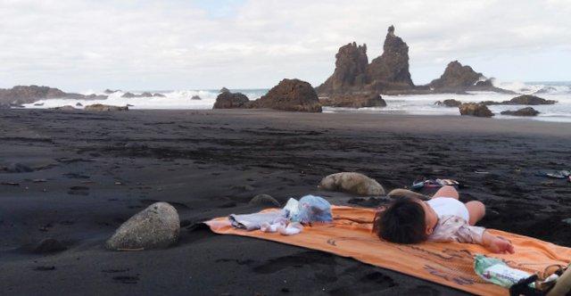 Polona in Oli na prvem skupnem potovanju, Tenerife, Kanarski otoki