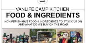 FOOD & INGREDIENTS | vanlife camp kitchen