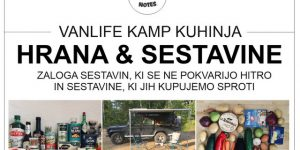 HRANA & SESTAVINE | vanlife kamp kuhinja