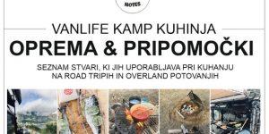 OPREMA & PRIPOMOČKI za kuhanje na kampiranju in overland potovanjih | vanlife kamp kuhinja