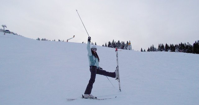 skiing Großer Arber Bvarian forest national park Germany