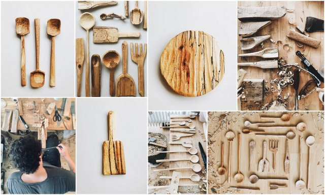 While I´m more into sewing, Charlie is making these gorgeous hand made wooden products. Yes, in our living room. We opened an online shop just weeks ago. Go check it out :)