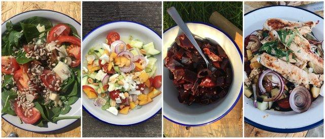 vanlife camp kitchen kampkuhinja saladas solate