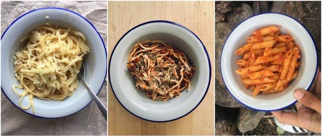 Vanlife camp kitchen pasta kamp kuhinja