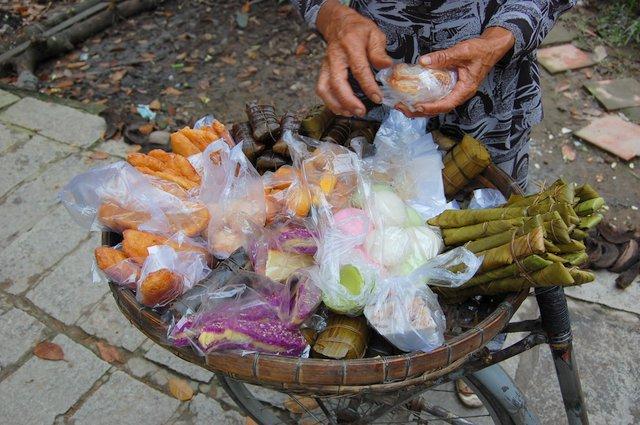 poceni ulični prigrizki, Mekong delta, Vietnam