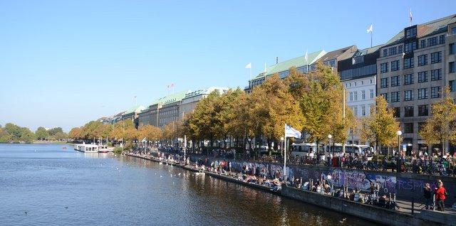 Binnenalster lake Hamburg Germany Nemcija