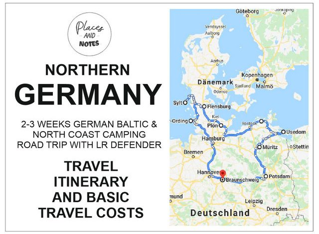 northern Germany camping road trip Baltic and north coast