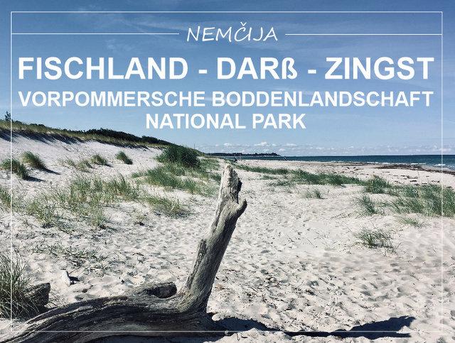 polotok Fischland Darß Zingst in narodni park Vorpommersche Boddenlandschaft Nemčija kaj videti in početi