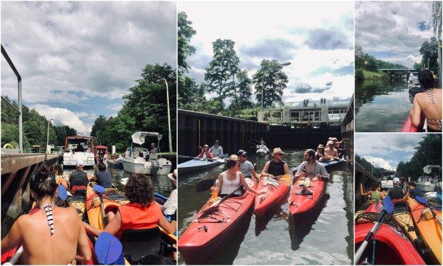 Mecklenbrgische Seenplatte Schleuse Diemitz kayaking zapornica Nemcija