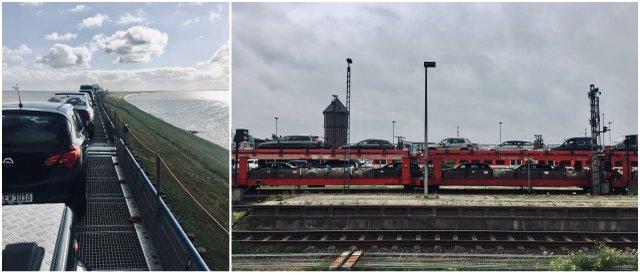 Sylt autozug Germany car train avtovlak Nemcija