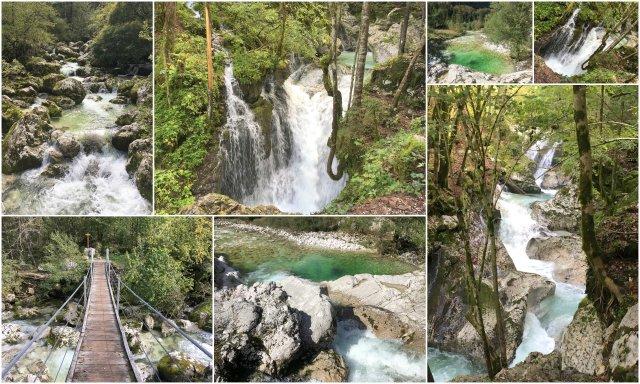 Šunikov vodni gaj dolina Soče Lepena Slovneija Slovenia Soča valley waterfalls hiking