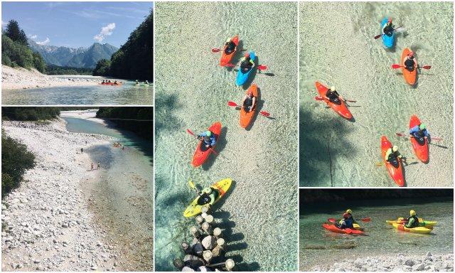 Kayaking Soca river kajakastvo Bovec Slovenija Slovenia