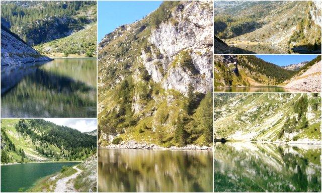 Krnsko jezero Krn lake Slovenija Slovenia hiking Soca Valley Lepena dolina Soce