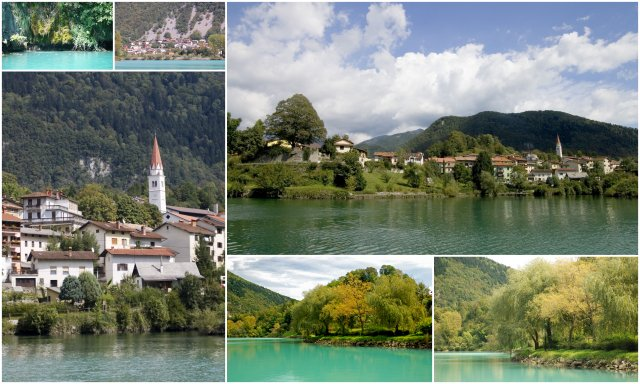 Most na Soci Slovenija Slovenia dolina Soce Soca valley