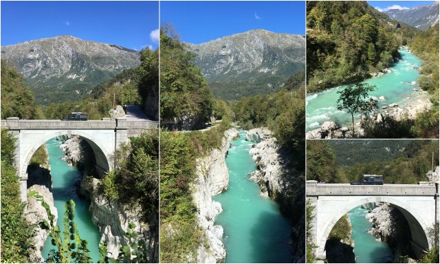 Napoleonov most Soca Slovenija Soca valley Napoleon bridge Slovenia
