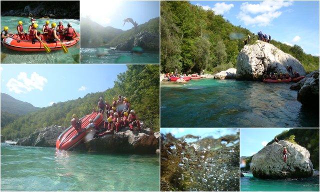 Rafting Soca vallez dolina Soce Slovenia Slovenija