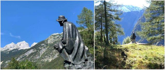 Spomenik Kugyju dolina Soče Slovneija Slovenia Vrsic pass