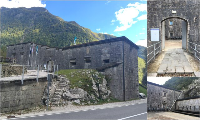 Trdnjava Klkuze Fort Slovenia dolina Soče Soca valley Slovenija