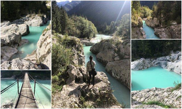Velika korita Soce Slovenija izlet Soca river valley Slovenia