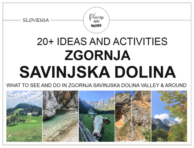What to see and do in Zgornjsa Savinjska valley Slovenia