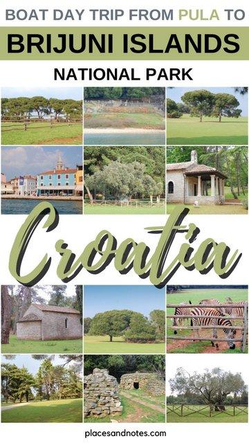 Brijuni NP Croatia day trip from Fazana Pula