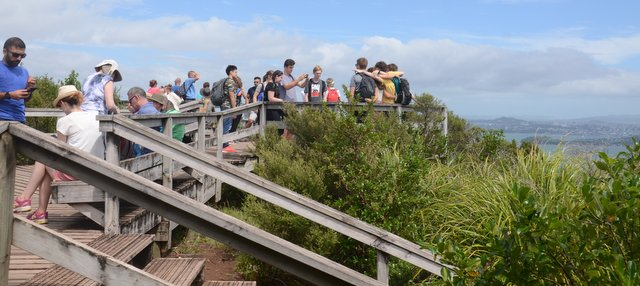 observation deck Rangitoto island New Zealand