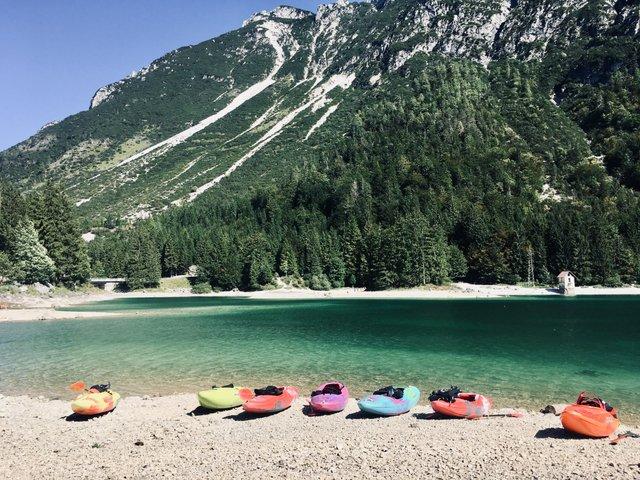 Predilsko jezero Rabeljsko Lago di Predil kajak