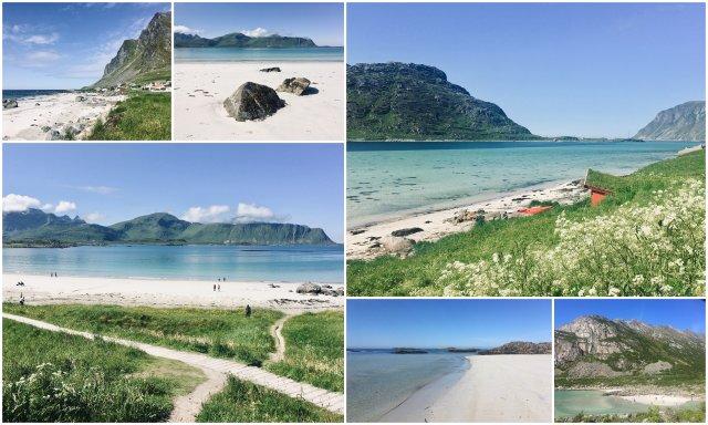 Lofoti Norveška plaže Skandinavija Norway Lofoten beach paradise