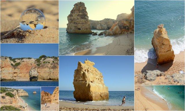 Praia da Marinha Portugalska Portugal Algarve obala pla#za