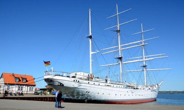 Gorch Fock ship Stralsund Germany severna Nemcija izlet potovanje potopis