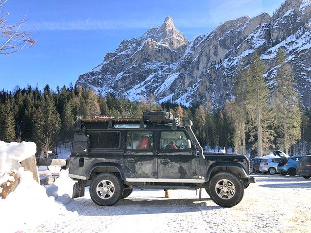 land rover defender winter camping zimsko kampiranje