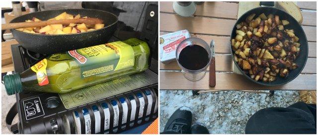 Kaj kuhati in jesti na zimskem kampiranju What to eat while winter camping
