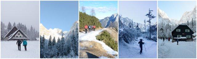 Lažji zimski pohodi Slovenija easy winter hikes in Slovenia