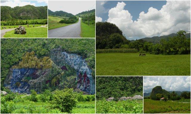 Pinar del Rio Cuba dinosaur paintings Kuba