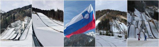 Planica ski jumps Slovenia Skakalnice zima počitnice