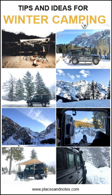 Tips and ideas for winter camping with a van or car