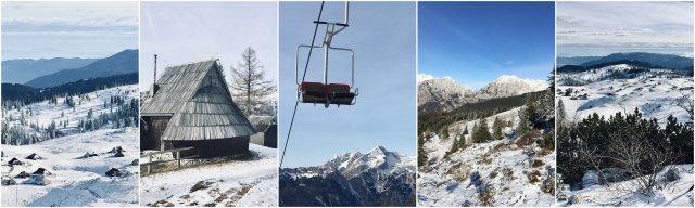 Velika planina Slovenijar omantični vikend izlet Slovenia skiing winter romantic destination
