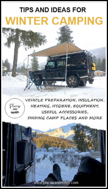 Winter camping trip tips and ideas about how to prepare your car, essential equipment and accessories and more