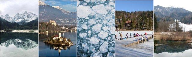 jezera zima Slovenija izlet Slovenia frozen lakes winter time
