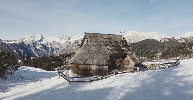 velika planina Slovneija vikend izlet zimske dogodivščine winter Slovenia